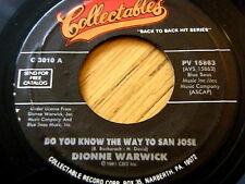 "DIONNE WARWICK - DO YOU KNOW THE WAY TO SAN JOSE  7"" VINYL"
