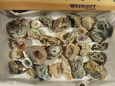 Oco Collection 30 Pc. Lot Agate Geodes Halves 1 LB. Polished Quartz Specimens #3