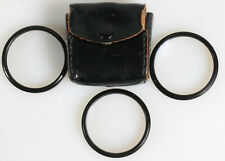 49MM CLOSE UP FILTERS IN CASE SET OF 3