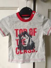 Designer Sample 'Lion' T-Shirt. Boys. Age 0-3 Months. 'Top Of The Class'