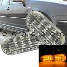 Pair Side Marker Clear Amber LED Light Lamp For Volkswagen Golf Mk4 Passat B5