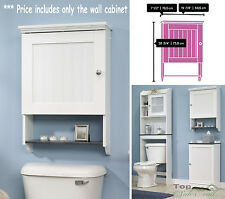 Bathroom Storage Cabinet Wall Mounted Linen Towel Toilet Wood Cupboard Organizer