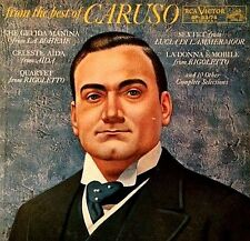"ENRICO CARUSO ""FROM THE BEST OF CARUSO"" PREMIUM QUALITY USED LP (NM/VG+)"