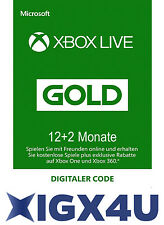 Xbox One XBOX 360 LIVE GOLD 12+2 =14 Monate Mitgliedschaft Karte/ 14 Month Card★