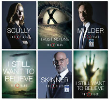 PROMO X-Files Revival 6 cards Set  Dana Scully Skinner Fox Mulder