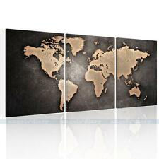 3PC/Set Huge Vintage World Map HD Canvas Prints Wall Art Paintings Unframed