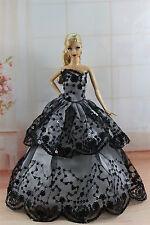 Moda Princesa Vestido Boda clothes/gown Para Barbie Muñeca su290