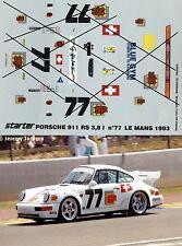 DECAL 1/43 PORSCHE 911 RS 3.8L N° 77 LE MANS 1993 STARTER