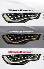 2 x AUDI SPORT - HEADLIGHT - VINYL CAR DECAL STICKER ADHESIVE  - TT - 300mm long