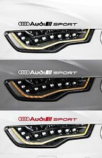 Per AUDI - 2 X Audi Sport HEADLIGHT-vinile Car decalcomania Sticker-TT 300mm lungo
