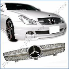 Fit BENZ W219 Sedan 2005-08 CLS350 CLS500 Shiny Chrome Fin DTR Look Front Grille