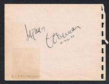 Lynne Overman (d. 1943) & Tommy Wonder (d. 1993) signed autograph 4x5 Album Page