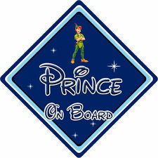 Disney Prince On Board Car Sign – Baby On Board – Peter Pan DB