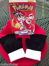 Pokemon  RED Trainer Gloves -  - New Cosplay Costume