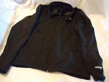 NORTH FACE MEN'S BLACK LARGE WINDSTOPPER JACKET, FLEECE LINED WINDBREAKER
