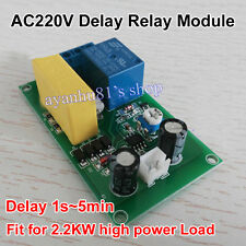 220VAC Trigger ON Delay OFF Time Timing Switich Relay Module 1Sec~5Min adjustabe