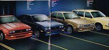 1987 Chevy CAVALIER Brochure / Catalog w/Color Chart:Z24,RS,CS,CONVERTIBLE,WAGON