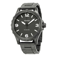 Fossil Nate Grey Dial PVD Stainless Steel Mens Watch JR1457