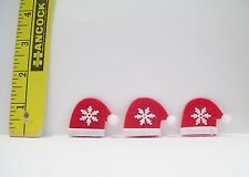 DOLLHOUSE  FASHION DOLL MINIATURE CHRISTMAS SANTA HAT ACCESSORY LOT OF 3