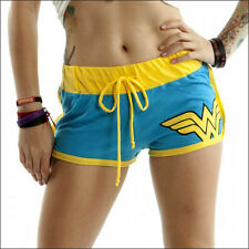 DC Comics Wonder Woman Junior Girls Lounging Booty Shorts Official Blue M MEDIUM
