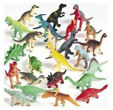 12 Vinyl DINOSAURS Birthday Party Favors Stocking Stuffers Cake Toppers Bulk