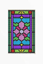 Stained Glass Water Lily~Beaded Banner Pattern