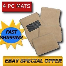 BEIGE TAN CAR FLOOR MATS Carpet Pads Fits Cars Trucks Suvs OEM All Colors CS1