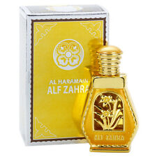 FREE SHIP ALF Zahra Perfume Al Haramain Alcohol Free Natural Arab Oil Attar 15ml