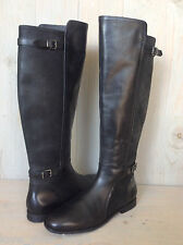 UGG DANAE BLACK LEATHER TALL RIDING BOOTS WOMENS US 9 EU 7.5 NIB