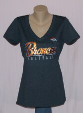 Womens Denver Broncos Football V-Neck T-Shirt XL
