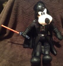"Disney Park Star Wars Goofy Darth Vader Talks with Light-Up Lightsaber 12"" Plush"