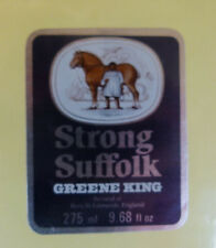 VINTAGE BRITISH BEER LABEL - GREENE KING BREWERY, STRONG SUFFOLK 275ML