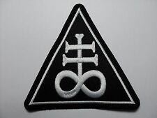 LEVIATHAN CROSS WHITE  TRIANGLE     EMBROIDERED PATCH