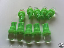 100 NEW Pinball 6.3 Volt LED GREEN Round Replacement Bulbs 555 Wedge Base T10
