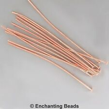 3 inch 21 gauge Headpins Copper-Plated #951 (144) Copper Plated Head Pins Wire