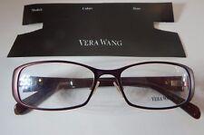 Vera Wang V082 Burgundy 51/16 Eyeglass Frame New