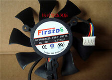 FOR 75mm  Video Card Cooler Fan HD4860 4890 5770 5870 6770 6790 FD8015H12S