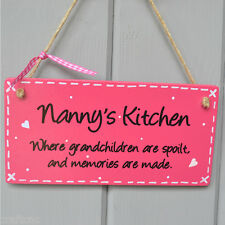 Nanny gift wall sign plaque from grandchildern christmas present idea