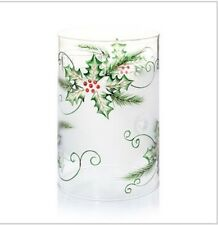 YANKEE CANDLE HOLLY BERRY SPRIG FROSTED MULTI TEA LIGHT HOLDER RETIRED ITEM