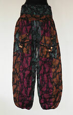 *Fair Trade* Hippy Boho Indian Made Butterfly Design Acrylic Wool Trousers TR5