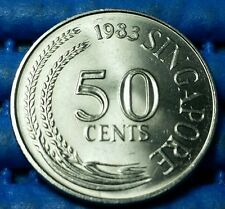 1983 Singapore 50 Cents Lion Fish Coin