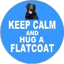 2 Flatcoated Retriever Dog Car Stickers (Keep Calm & Hug) By Starprint