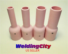 4 TIG Welding Large Gas Lens Ex-Long Ceramic Cups #6 #8 #10 #12 | US Seller Fast