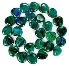 15mm Azurite Chrysocolla Gem Heart Shape Loose Bead 15''