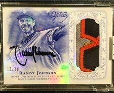 RARE! 2015 Topps Dynasty RANDY JOHNSON Autograph Patch HOF Auto #10/10, eBay 1/1