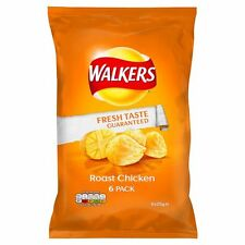 Walkers Roast Chicken Crisps 6 x 25g - Sold Worldwide From UK
