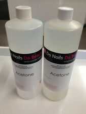 100% Pure Acetone 2 X 1LITRE nail polish remover gel remover acrylic nails
