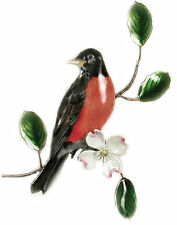 Robin Bird Metal Wall Art Decor Sculpture by Bovano of Cheshire #W4123