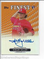 2013 Topps Finest Orange Refractor Shelby Miller Auto #RA-SM #'d 07/99 ROOKIE