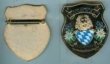 Polizei:Brustschild:Bavarian Police,Messing,poliert